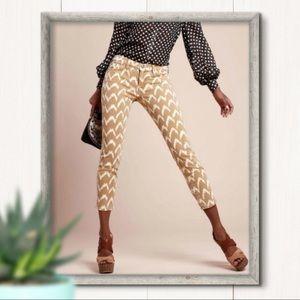 7FAM Jeans Cropped Skinny Ikat Pattern Size 29